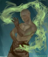 Shoha the Bald Mage by Nowio