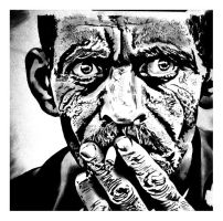 Smoking man by KTCronin
