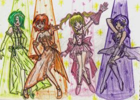 Mermaid Princesses by AriesClyne