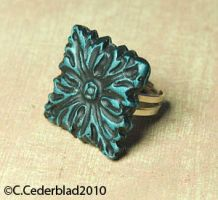 Square ring polymer clay by skuggsida
