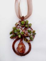 Tree pendant mineral by Mirtus63