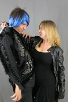 Leather and Spikes Couple 2 by MajesticStock