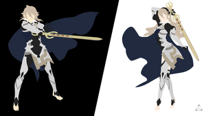 Kamui (Fire Emblem If) Minimalism by xVordred