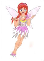 White Christmas fairy by animequeen20012003