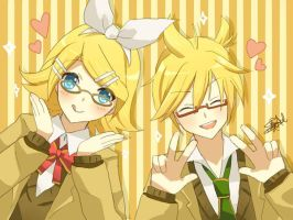 Rin + Len by yunare
