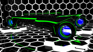Tron Car 2 Blue/Green by Mikey-Spillers