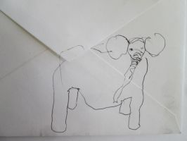 elephant opening envelope by DVanDyk