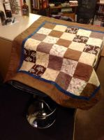 Simple block patchwork quilt by PassionAndTheOpera4