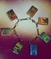 Harry Potter Books Charm Bracelet by TashaAkaTachi