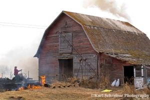 Burning Down The Barn 1 by KSPhotographic