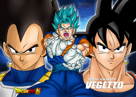 DB SUPER WALLPAPER-POSTER VEGETTO BLUE by SergioFrancZ