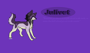 Julivet 'Bright on the inside' Wallpaper by brindlecatt