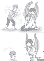 Smaug:Sherlock and Bilbo:John by BlankInSpace