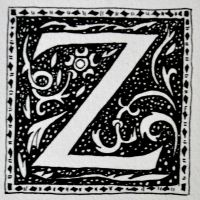 calligraphy floral ornaments - letter Z by mariejanestupak