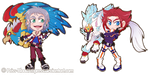 Chibi Russian Bladers by Priss-BloodEmpress
