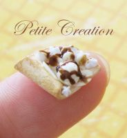 miniature crepe stud earrings3 by PetiteCreation