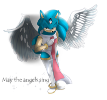 Sonic the angel by QueenFlare-chan
