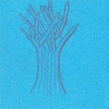 Little Blue Tree by aid76