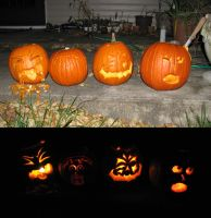 jack o lanterns by tajniwolf