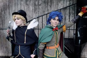 Dio Brando and Jonathan Joestar by Pahisman