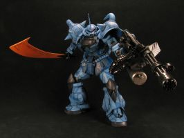 1_100 Gouf Custom Front by GameraBaenre