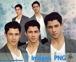 5 Images PNG- Nick Jonas by NatyJonasProductions