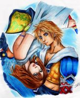 Tidus and Yuna by JenovasReject88