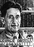 George Orwell by magnetic-eye