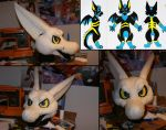Dorago fursuit head W.I.P. by Maria-M--aka--Bakura