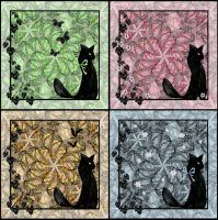 Four Black Cats by rockgem