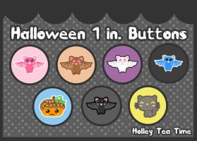 Halloween 1 in. buttons by miemie-chan3
