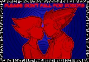 Robot Love -in color and 3D- by ACGalaga