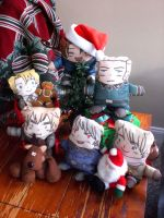 APH - Christmas plushies by oneoftwo