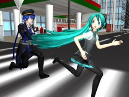 MMD You're under arrest Miku and Kaito by JetBlue238