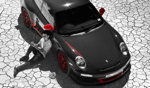 Self Portrait with 911 GT3RS by eastonchang