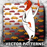Vector Patterns. VW Bug 4 by paradox-cafe