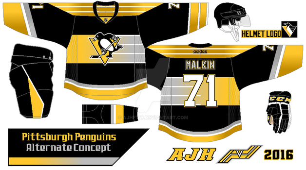 Pittsburgh Penguins 2016 alternate concept by AJHFTW