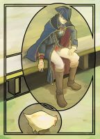 Haytham and Chicken by hakusekirei