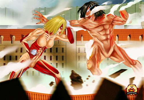 Let's Draw Anime - Attack on Titan by horizonbear