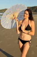 Rommley - bikini and parasol 1 by wildplaces