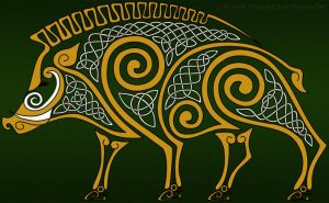 Celtic boar by AvocadoArt