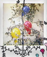 ballons on the tree. by clementine-dwayh