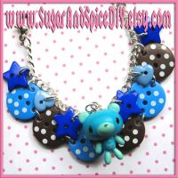 Blue Gloomy Bear Bracelet by SugarAndSpiceDIY