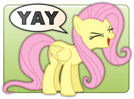 Fluttershy's YAY Badge by ZuTheSkunk