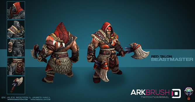 Dota 2 - Red Talon Skin (Beastmaster) by ArkBrush
