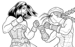 Wonder Woman Vs. Cammy by r-i-p-p-l-e