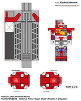 Hako Clone- Optimus Prime 'RID' 2of2 by CyberDrone