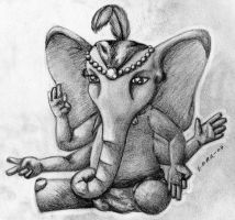 Lord Ganesh... by Pickled-witch