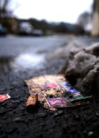 Stamps. On the ground. by Metatronis