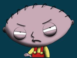 Stewie Griffin in 3D by bennettua